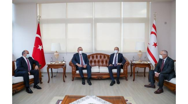 Dışişleri Bakanı Çavuşoğlu, KKTC'nin 37. kuruluş yıldönümü kutlamaları için KKTC'de