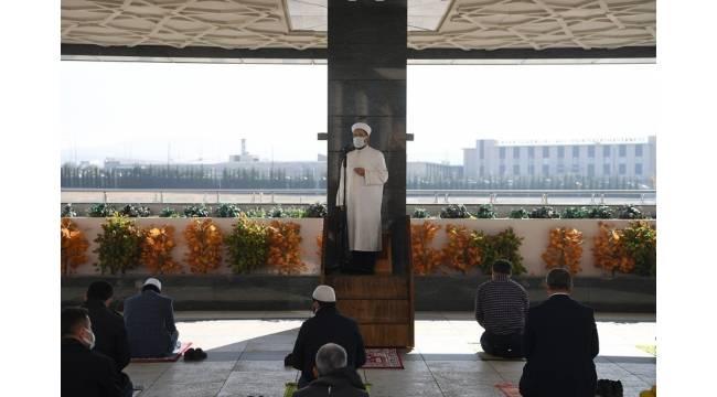 Diyanet İşleri Başkanı Erbaş, Ahmet Hamdi Akseki Camii'nde hutbe irad etti