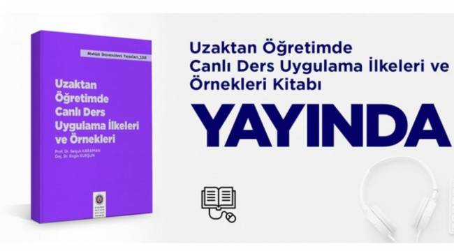 """DPÜ'den """"Uzaktan Eğitimde Canlı Ders"""" konulu kitaba destek"""