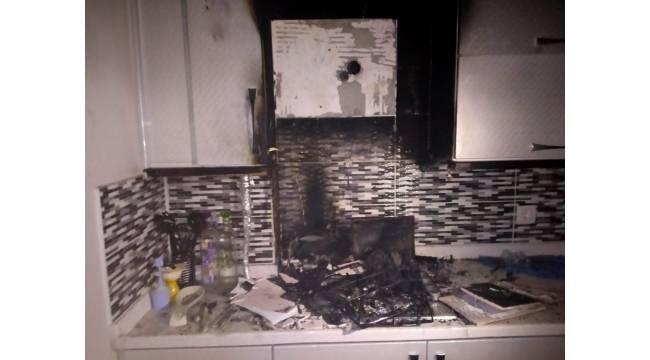 Ev yangını itfaiyenin müdahalesiyle söndürüldü