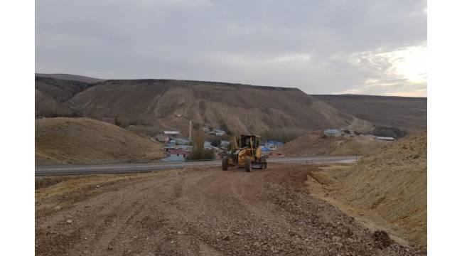 Gürün'de köy yolları kışa hazır