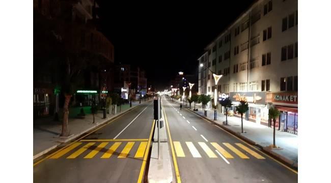 Hastane ve Hacıbekir caddelerinin yol çizgileri de tamamlandı