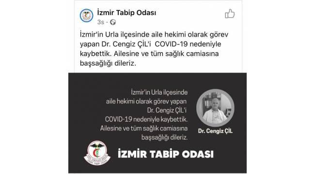 İzmir'de aile hekimi korona virüse yenik düştü