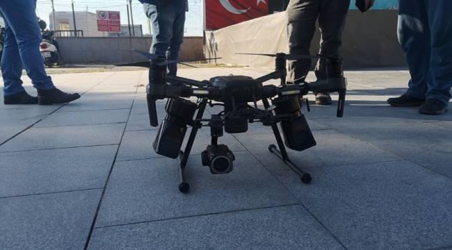 İzmir'de drone destekli korona denetimi