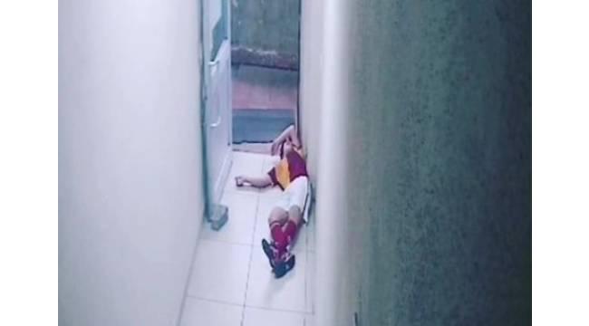 Kalp krizinden ölen 13 yaşındaki gencin fenalaştığı anlar kameraya yansıdı