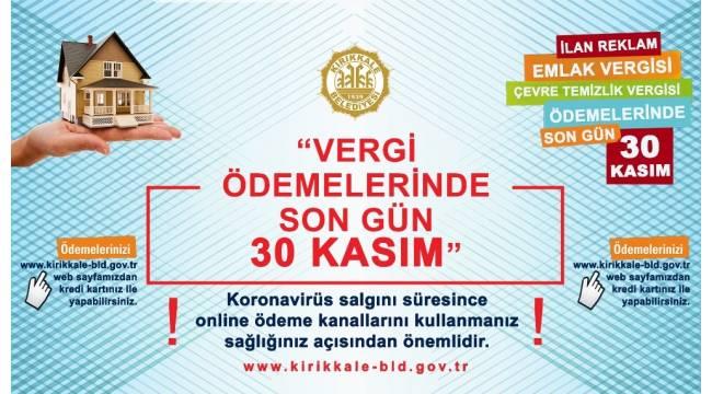 Kırıkkale'de vergiler web sitesi üzerinden ödenebilecek