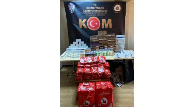 Kocaeli'de çok sayıda kaçak ürün ele geçirildi: 2 gözaltı
