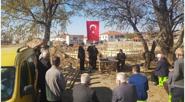 Kulu'da Kur'an kursu temeli kurban kesilerek atıldı