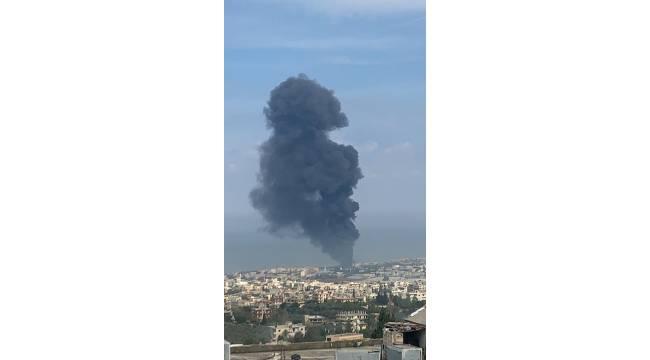 Lübnan'da petrol boru hattında yangın