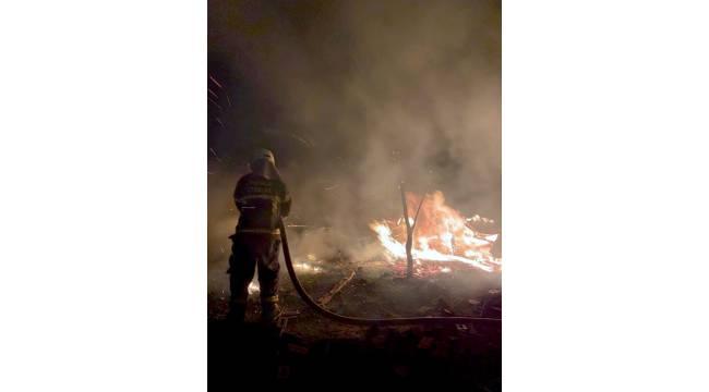 Menteşe'de kümes ve odunluk yangın