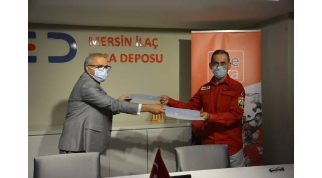 Mersin Ecza Deposu ile AKUT arasında sponsorluk anlaşması imzalandı