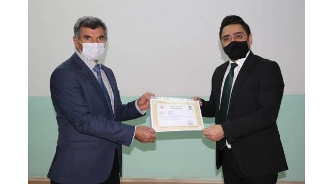 Müftülük personeline Korona virüs ile mücadelede başarı belgesi