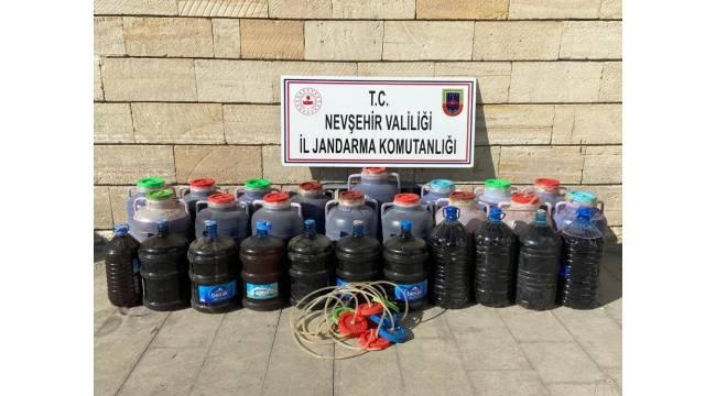 Nevşehir'de 930 litre kaçak içki ele geçirildi
