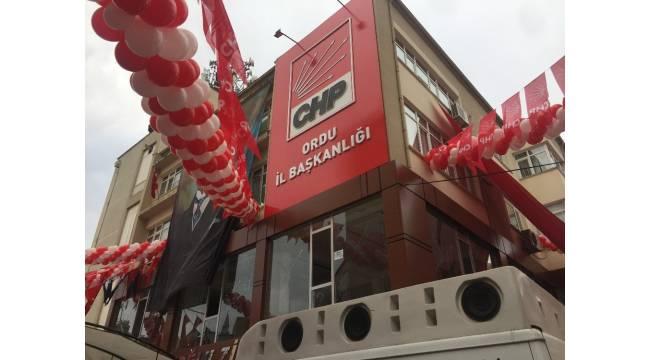 Ordu'da CHP teşkilatı korona virüs sebebiyle kapatıldı