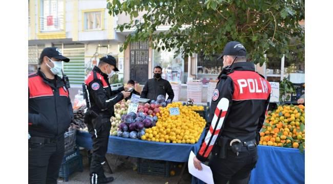 Polis pazar yerinde denetimi sıklaştırdı