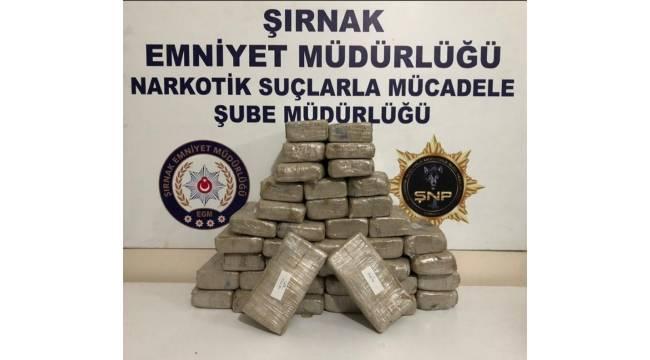 Şırnak'ta 20 kilogram eroin ele geçirildi