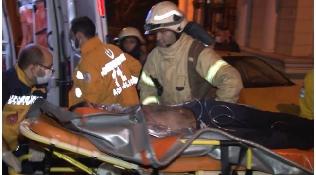 Şişli'de bir binanın 5'inci katında korkutan yangın: 1 ağır yaralı