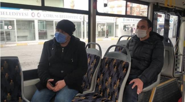 Sivil polislerden halk otobüsünde Covid-19 denetimi