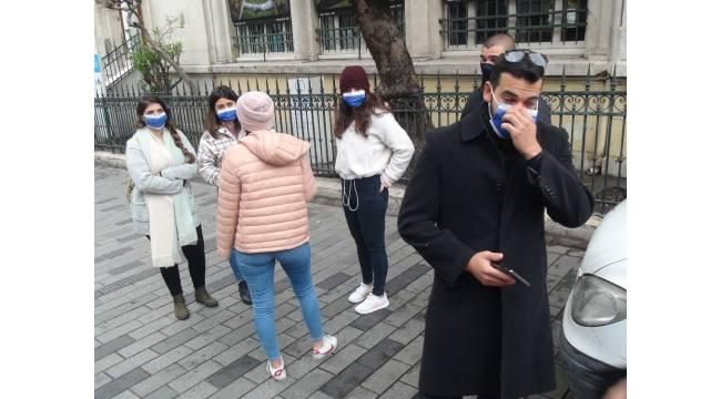 Taksim'de korona virüs denetimlerinde çok sayıda kişiye ceza kesildi
