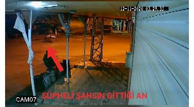 Toz şeker hırsızı önce kameraya sonra polise yakalandı