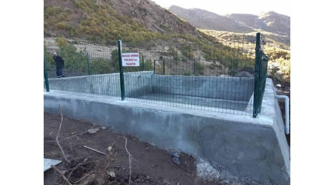 Tunceli'de sulama havuzu ve hat yapım projesi tamamlandı