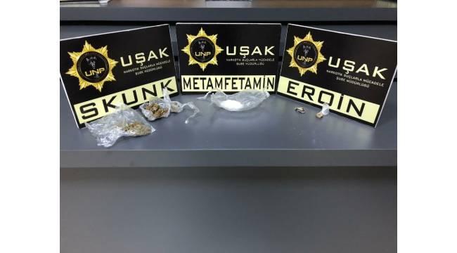 Uşak'ta yabancı uyruklu iki uyuşturucu taciri tutuklandı