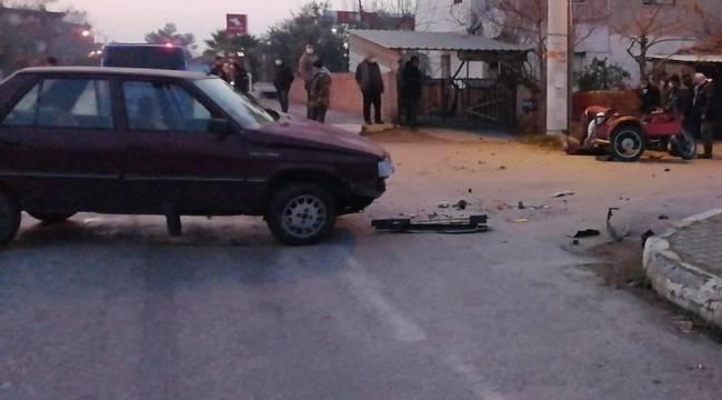 16 yaşındaki sürücü kaza yaptı: 1 yaralı