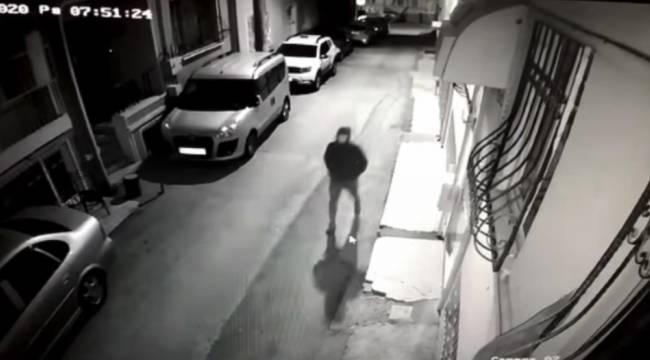 4 dakika içinde motosikleti çalan hırsız, kamerada