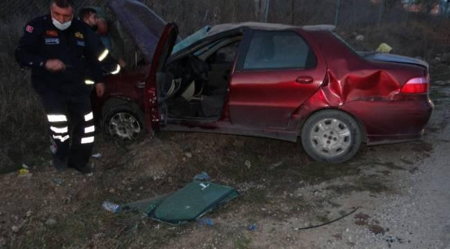 Araç hurdaya döndü, sürücü kazayı hafif sıyrıklarla atlattı
