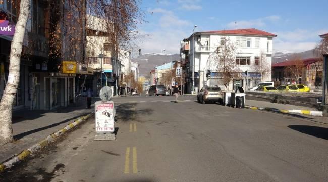 Ardahan'da cadde ve sokaklar boş kaldı
