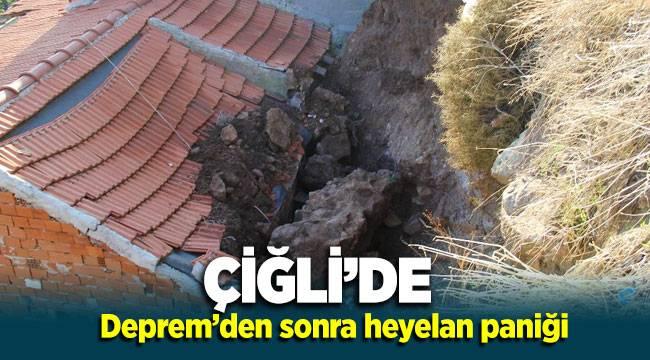 Çiğli'de depremden sonra heyelan paniği: Bazı evler zarar gördü