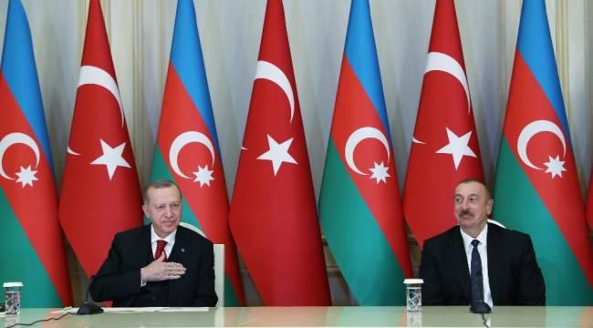 """Cumhurbaşkanı Erdoğan: """"44 günlük bir savaş sonrasında ortaya çıkan netice Azerbaycan'daki kardeşlerimizi nasıl sevindirdiyse Türkiye'deki kardeşlerini de sevindirmiştir"""""""
