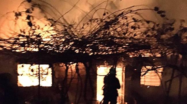 Edremit'te hayvan damı cayır cayır yandı