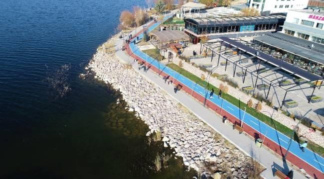 Gölbaşı Belediyesi 1. Etap bisiklet yolunu tamamladı