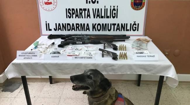 Isparta'da uyuşturucu operasyonlarında 2 kişi tutuklandı