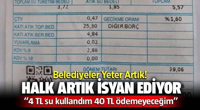 İzmir'de su faturaları halkı isyan ettirdi!