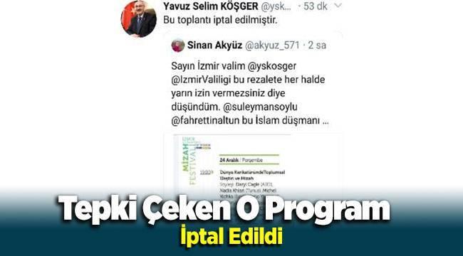 İzmir'de Tepki Çeken Mizah Programı İptal Edildi