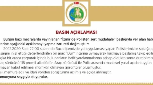 İzmir Valiliğinden polis tarafından vatandaşa darp iddialarına yönelik açıklama