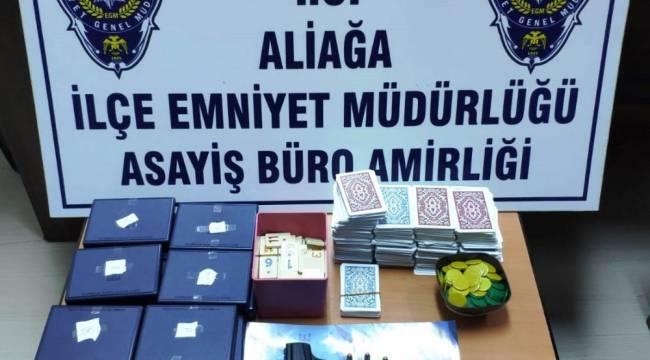 İzmir'de kumar baskında 14 kişiye ceza