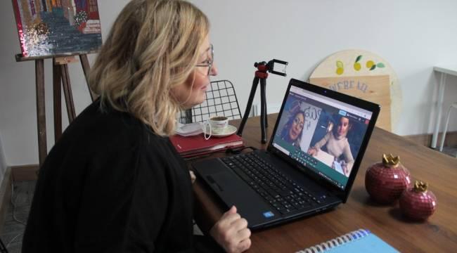 Kıtalar arası online resim dersi
