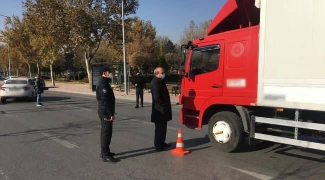 Konya Emniyet Müdürü Mustafa Aydın, uygulama noktalarını denetledi