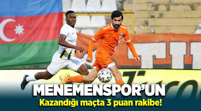 Menemenspor'un kazandığı maçta 3 puan rakibe!
