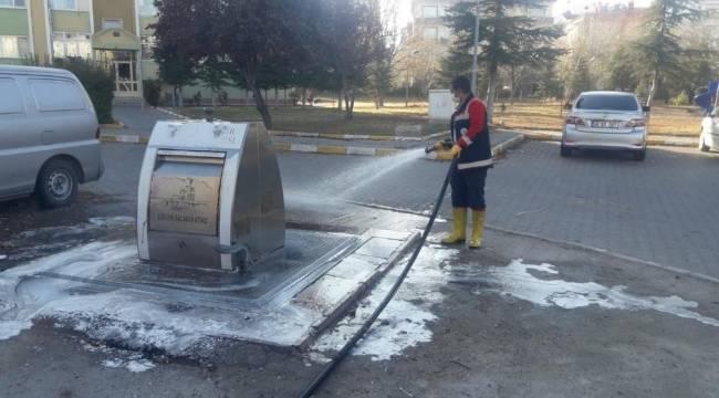 Nevşehir Belediyesi kısıtlamayı fırsata çevirdi, şehri temizledi
