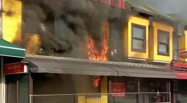 Samsun'da lokantada yangını çıktı