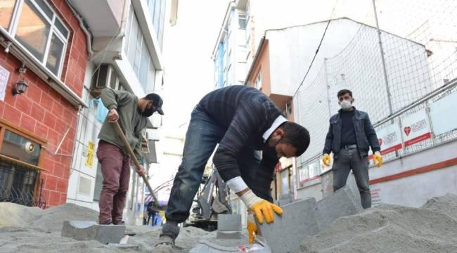 Tekirdağ'ın sokak yolları yenileniyor