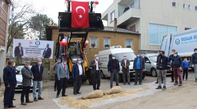 Terzialan Belediyesi'ne hibe araçlar dua ile hizmete girdi