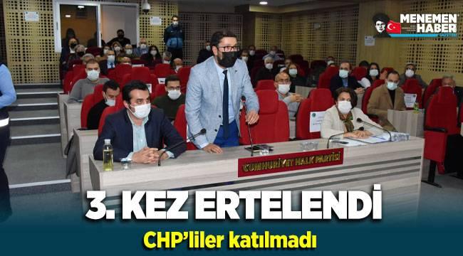 Menemen Belediyesi'nde CHP'liler katılmadı kura çekimi 3.kez ertelendi