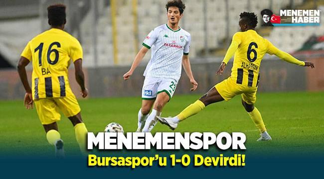 Menemenspor Bursaspor'u 1-0 devirdi!