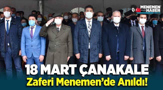 18 Mart Çanakkale Zaferi Menemen'de anıldı