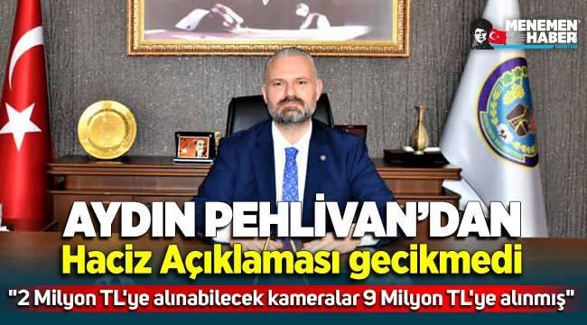 """Menemen Belediye Başkan Vekili Pehlivan """" 2 Milyon TL'ye alınabilecek kameralar 9 Milyon TL'ye alınmış"""""""